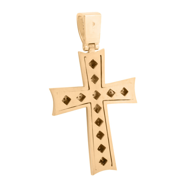 Stainless Steel Cross Pendant Rose Gold Finish With Chain