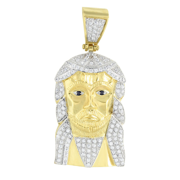 Jesus Pendant 14K Gold Over Stainless Steel With Chain