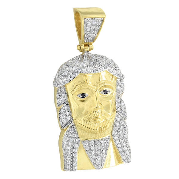 Jesus Pendant 14K Gold Over Stainless Steel