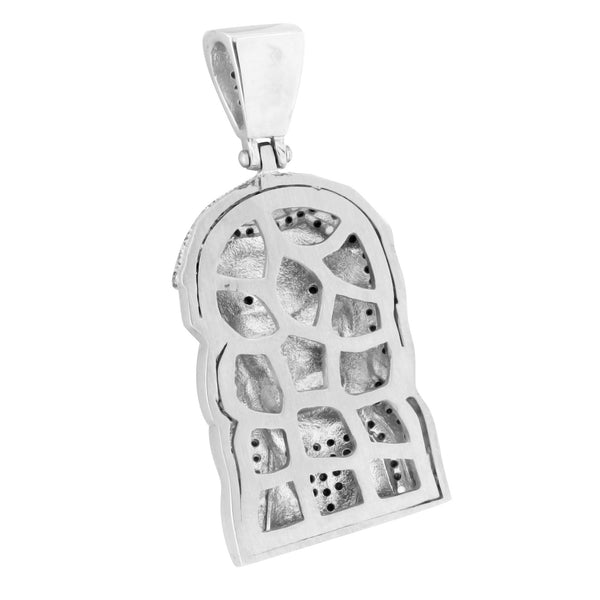 Stainless Steel Jesus Face Charm Black With Chain