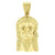 Gold Finish Jesus Pendant Stainless Steel Yellow With Chain