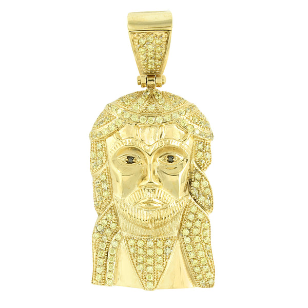 Gold Finish Jesus Pendant Stainless Steel Yellow