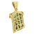 Mens Jesus Face Pendant Round Cut Canary Stones With Chain