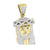 Mens Gold Finish Jesus Pendant Stainless Steel With Chain