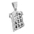 Stainless Steel Jesus Christ Face Pendant Charm Mens 2.2