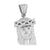 Jesus Christ Face Pendant Stainless Steel Charm White