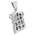 Jesus Christ Face Pendant Stainless Steel Charm White Chain Set