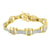 Stainless Steel Bracelet For Men On Sale Lab Diamonds 14k Yellow Gold Finish New