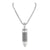 Stainless Steel Bullet Design Pendant Black And White Chain Set