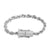 Stainless Steel 14k White Gold Finish 4mm Rope Bracelet Designer New Bling Lock