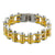Gold Yellow Bracelet Custom Stainless Steel Motorbike Chain Link Designer Link