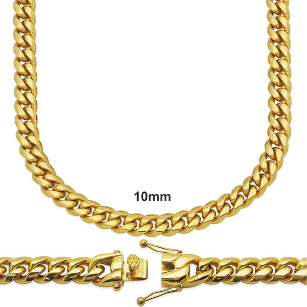 14k Gold Finish 10mm 30