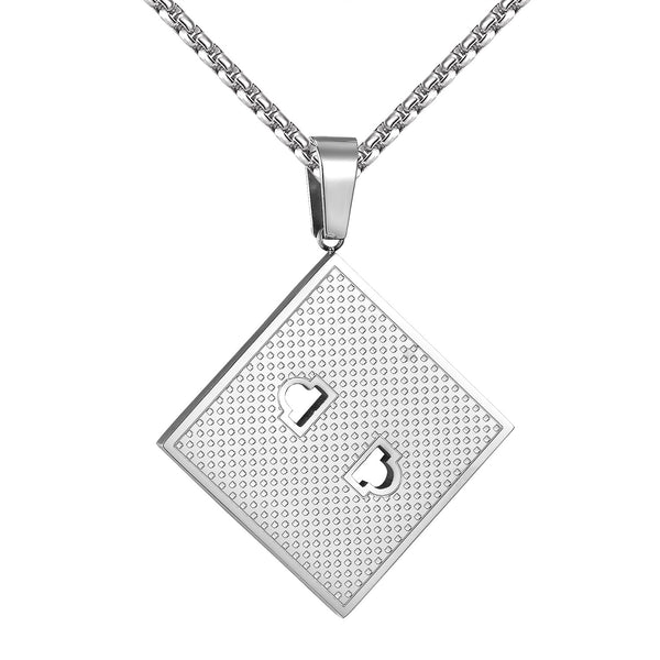 Socket Board Pendant Stainless Steel Custom Style Mens 2.0 Inch 2mm Necklace