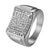 Stainless Steel Mens Wedding Engagement Ring Hip Hop Micro Pave Bling Pinky