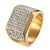 14k Gold Tone Hip Hop Iced Out Pinky Ring Wedding Engagement Micropave Bling
