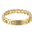 Arrow Design Bracelet Miami Cuban Link Stainless Steel 14k Gold Finish Hip Hop
