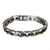 Stainless Steel Mens Bracelet 2 Tone Rose Silver Tone Custom