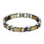 Designer Link Bracelet 2 Tone Mens Stainless Steel Tarnish Free