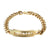 Razor Blade Design Bracelet Stainless Steel Mens 14k Gold Finish