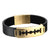 Razor Blade Designer Bracelet Black Leather Strap Wrist Band