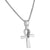 Designer Solitaire 3D Ankh Cross Pendant Necklace