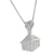 Iced Out Trap House Fist Pendant 14k White Gold Finish Silver Pendant Free 24