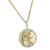 Sterling Silver World Globe Pendant 14k Gold Finish Iced Out Free 24