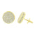 Sterling Silver Round Earrings Screw Back Gold Finish