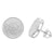 Screw Back Sterling Silver White Gold Finish Earing