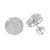 Sterling Silver Round Earrings Screw Back