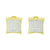 Kite Design Yellow Gold Sterling Silver Screw Back Earings