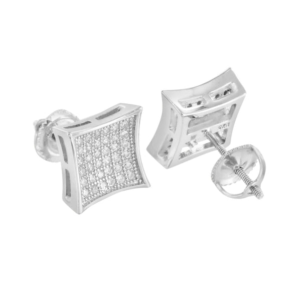 Sterling Silver Kite Shape Designer Sterling Silver Earings