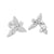 New Angel Style Silver Earrings 14k White Gold Finish