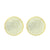 Gold Finish Round Earrings Sterling Silver Screw Back 18 MM