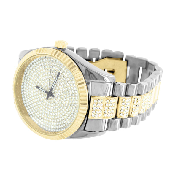 Presidential Style Mens 2 Tone Watch
