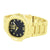Gold Tone Mens Watch Ladies Black Dial Ice Master Jojo Jojino Water Resistant