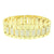 Iced Out Watch Gold Tone Simulated Diamonds Matching Bracelet