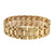 Brown Simulated Diamond Watch Iced Out Analog Matching Bracelet