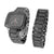 Mens Black Finish Watch With Matching Bracelet Gift Set Analog