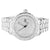 White Gold Tone Baguette Princess Lab Diamond Bling Master Watch