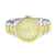 Mens 2 Tone Watch White / Gold Finish Fluted Bezel Joe Rodeo Jojino Look