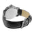 Mens Leather Band White Gold Finish Watch Quartz Water Resistant Forza