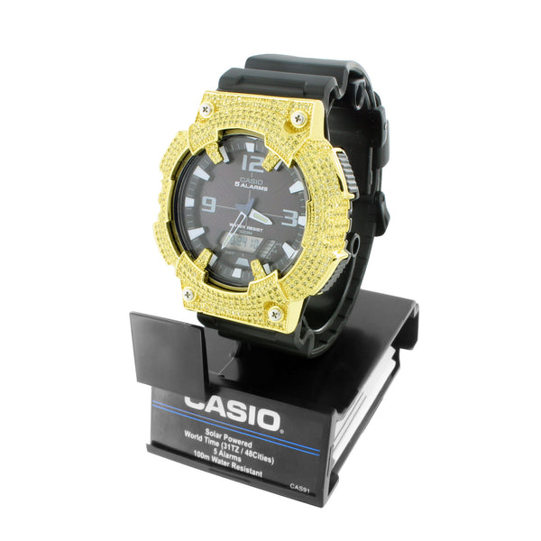 Mens Casio AQS810W-1A Dual Time Watch