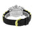Mens 2 Tone Watch Gold White Stainless Steel Back Rubber Strap