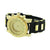 Mens Gold Finish Watch Bullet Style Strap