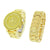 Gold Tone Watch  Canary Simulated Diamonds Matching Bracelet