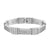 Mens Stainless Steel Bracelet White Simulated Diamonds Bar Link Design
