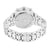 Iced Out Watch Matching Bracelet Simulated Diamond Classy
