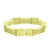 Gold Finish Mens Bracelet Stainless Steel 316 Bar Design Link