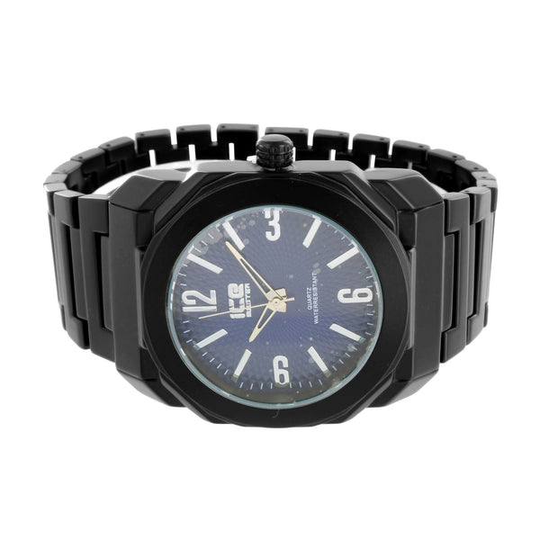 Ice Mania Watch Blue Dial Stainless Steel Back Black Finish